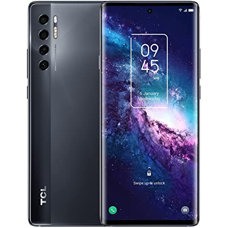 """TCL 20 Pro 5G Unlocked Android Smartphone with 6.67"""" AMOLED FHD+ Display, 48MP OIS Quad Rear Camera System, 6GB+256GB, 4500mAh Battery with Wireless Charging, US 5G Version Cellphone, Moondust Gray"""