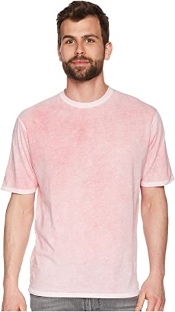 Topanga Combed Cotton and Hand Treated Wash Short Sleeve Crew Neck Tee