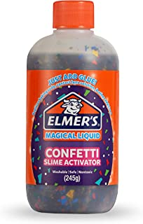 Elmer's Confetti Slime Activator | Magical Liquid Glue Slime Activator, 8.75 FL. oz. Bottle - Great for Making Confetti Slime