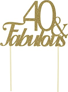 All About Details Gold 40- & -fabulous Cake Topper, New, .