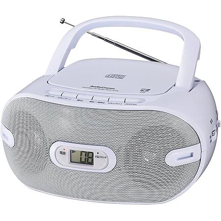 オーム電機 Audio Comm CDラジオ871Z RCR-871Z ホワイト