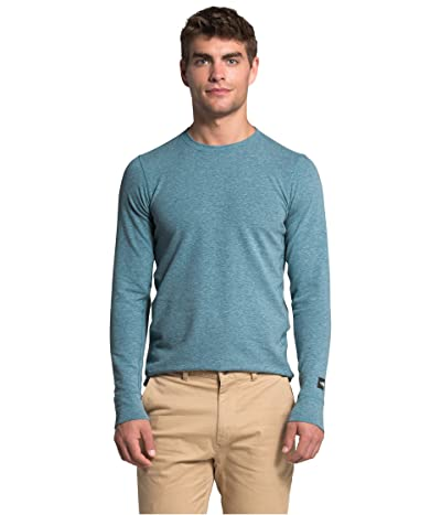 The North Face Long Sleeve TNF Terry Crew (Mallard Blue Heather) Men