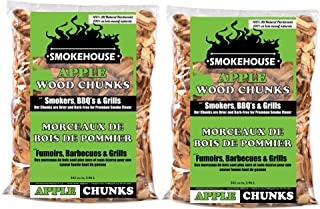Smokehouse Products All Natural Flavored Wood Smoking Chunks, 2 Pack (Apple)