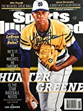 HUNTER GREENE Cincinnati Reds Autographed Sports Illustrated magazine 5/1/17
