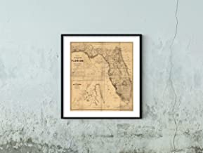 1846 Map of The State of Florida|Historic Vintage Antique Wall Map|22