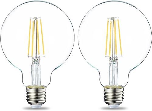 Amazon Basics Ampoule LED Globe E27 G93 à filament, 7W (équivalent ampoule incandescente de 60W) - Lot de 2