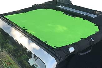 Alien Sunshade Jeep Sunshade Mesh Top Jeep Wrangler 2-Door JK 4-Door JKU 2007-2018 - 10 Year Warranty Front Jeep Top Green