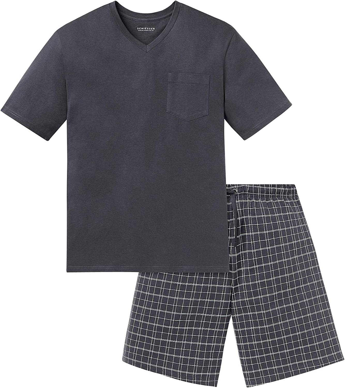 Schiesser Schlafanzug Kurz V-Ausschnitt Ensemble de Pyjama Homme