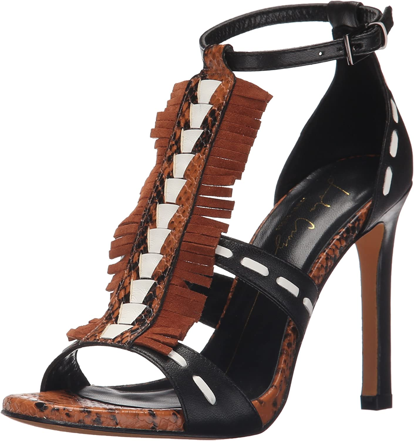Lola Cruz Womens High Heel Fringe Sandal D'Orsay Pump