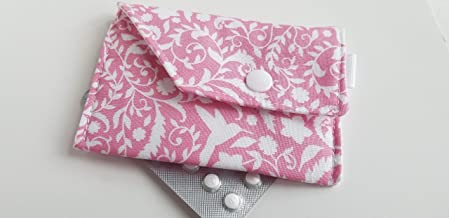 Purple dots Birth Control Case Sleeve with Snap Closure and Optional Keychain Clip