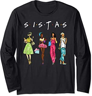 Black Sistas Queen Melanin African American Women Long Sleeve T-Shirt