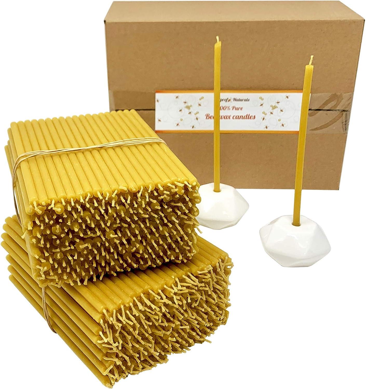 500 Award Votprof 100% Pure wholesale Beeswax Taper 4