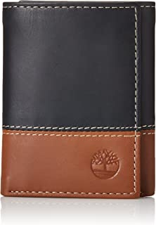 Mens Leather Trifold Wallet With ID Window