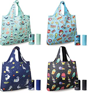 ASHARE Reusable Grocery Shopping Bags with Tubular Handle Extra Large Grocery Tote Bag Eco Friendly Machine Washable Rip S...