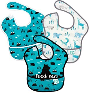 Bumkins SuperBib, Baby Bib, Waterproof, Washable, Stain and Odor Resistant, 6-24 Months, 3-Pack – Feed Me, Outdoor, Wild Life