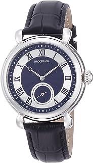 [ブルッキアーナ]BROOKIANA オリジン スモールセコンド 自動巻き シルバー×ブラックレザー BA2604-NVBK メンズ 腕時計