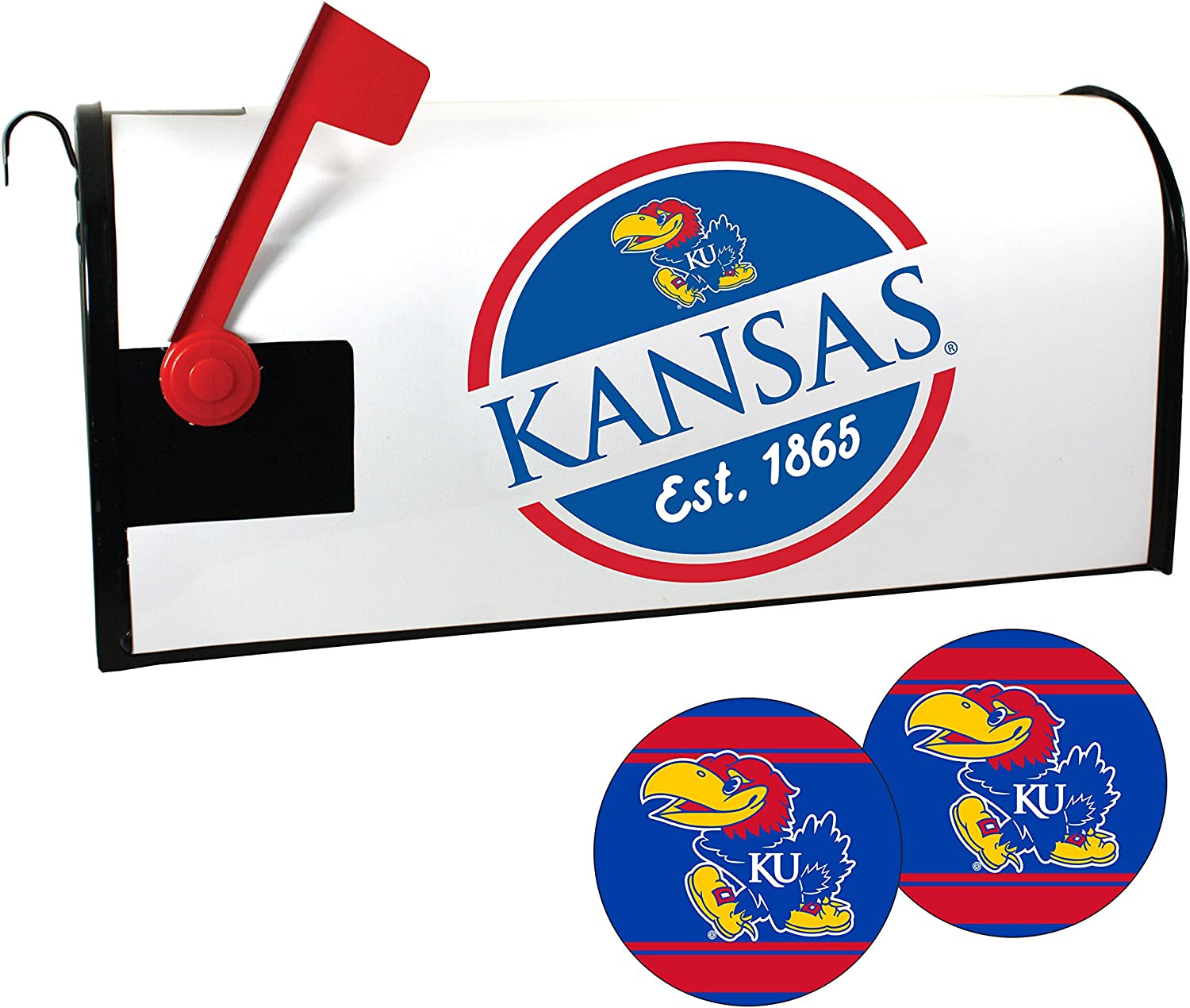 security Kansas Jayhawks Magnetic Mailbox Set and Cover outlet Sticker