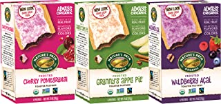 Nature's Path Organic Frosted Toaster Pastries Variety Pack Flavors (3 Boxes - 6 Count Per Box), Made with Real Fruit - Cherry Pomegranate, Granny's Apple Pie, Wildberry Acai