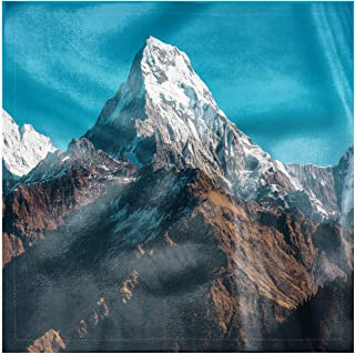 Lunarable Mountain Square Napkins Set of 4, Himalayan Snowy Peaks Asia, 18