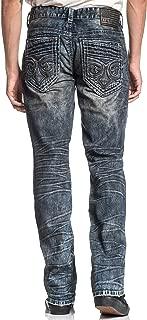 Ace Fleur Ranger Slim Straight Leg Fashion Denim Jeans Pants for Men