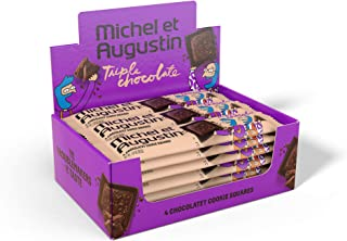 Michel et Augustin Chocolate French Cookie Squares (Triple Chocolate, 18 Bars)