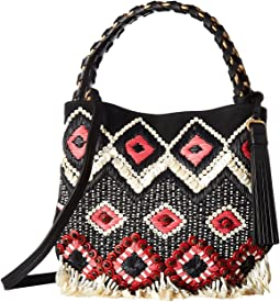 Tory Burch Brooke Embellished Small Hobo