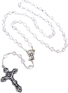 Clear Resin Rosary by J.C. Walsh & Sons- Made In Ireland