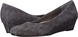Dark Grey 3D Patent Suede Leather