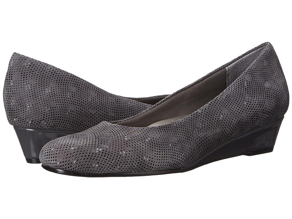 Trotters Lauren (Dark Grey 3D Patent Suede Leather) Women