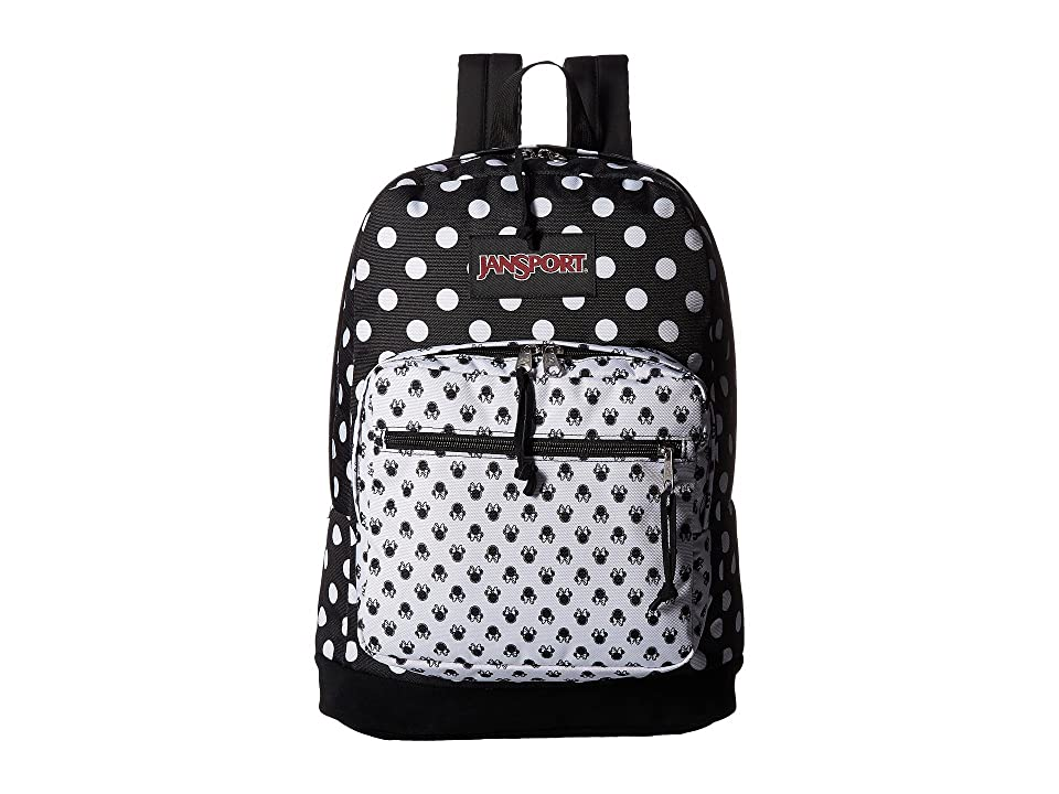 JanSport Disney Right Pack Expressions (Minnie Black Polka Dot) Backpack Bags