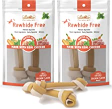 LuvChew Premium Dog Chew Bones, Made with Real Chicken, Rawhide Free, Gluten Free, Made with Limited Ingredients, Delicious, Healthy, Highly Digestible, No Choking Hazard, USDA & FDA Approved
