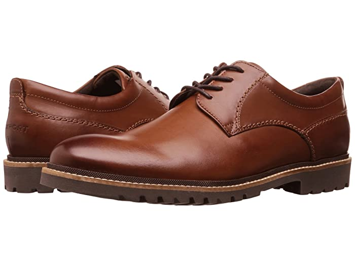 Rockport  Marshall Plain Toe Oxford (Dark Brown) Mens Lace up casual Shoes