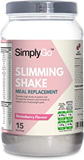 High Protein Slimming Shake for Weight Loss | Meal Replacement Powder Suitable for Men & Women | Strawberry Flavour | Made in The UK