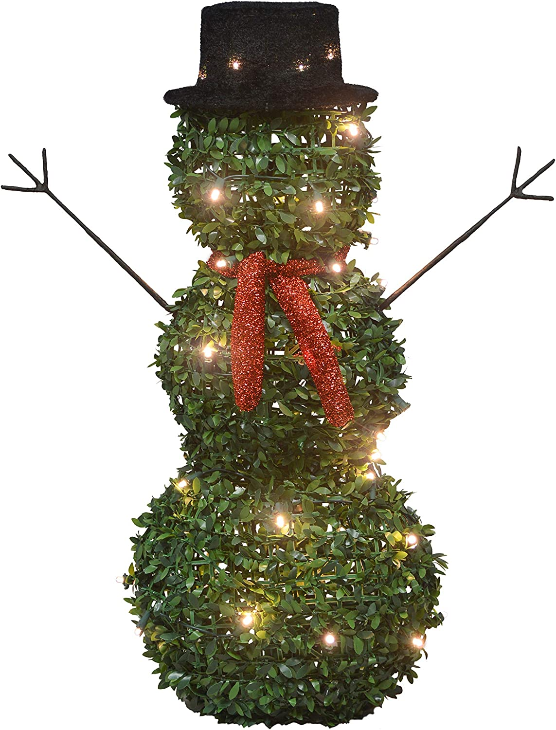 ProductWorks Max 44% OFF 17945 28-Inch Snowman Pre-Lit Max 47% OFF Artific Lights LED 40