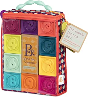 B. toys by Battat Baby Blocks – Stacking & Building Toys for Babies – 10 Soft Blocks for Learning Numbers, Shapes, Colors,...