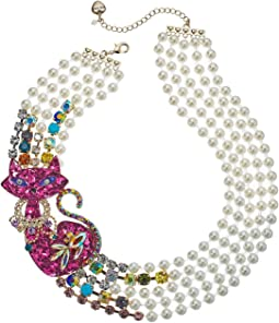 Betsey Johnson - Cat Pearl Torsade Necklace