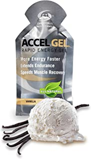 PacificHealth Accel Gel, All Natural Protein-Powered Rapid Energy Gel for Instant Energy During Intense Workouts - Box of 24, 1.3 Ounce Packets (Vanilla)