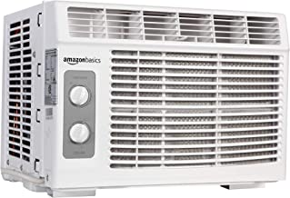 Amazon Basics Window-Mounted Air Conditioner with Mechanical Control – Cools 150 Square Feet