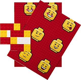 Any Occasion Lego Wrapping Paper & Tags from Hallmark - 2 Sheets (Birthday, Christmas, Father's Day)