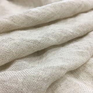 10b429c8ff Panini Tessuti - Tessuto per Tenda 100% Lino Stropicciato Colore Corda -  Tende Natural - A metraggio a Partire da 50 cm di Larghezza x 310 cm di  Altezza ...