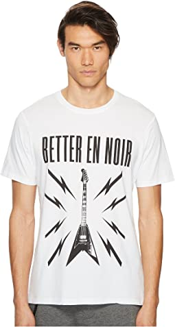 Better En Noir Screen-Printed White T-Shirt