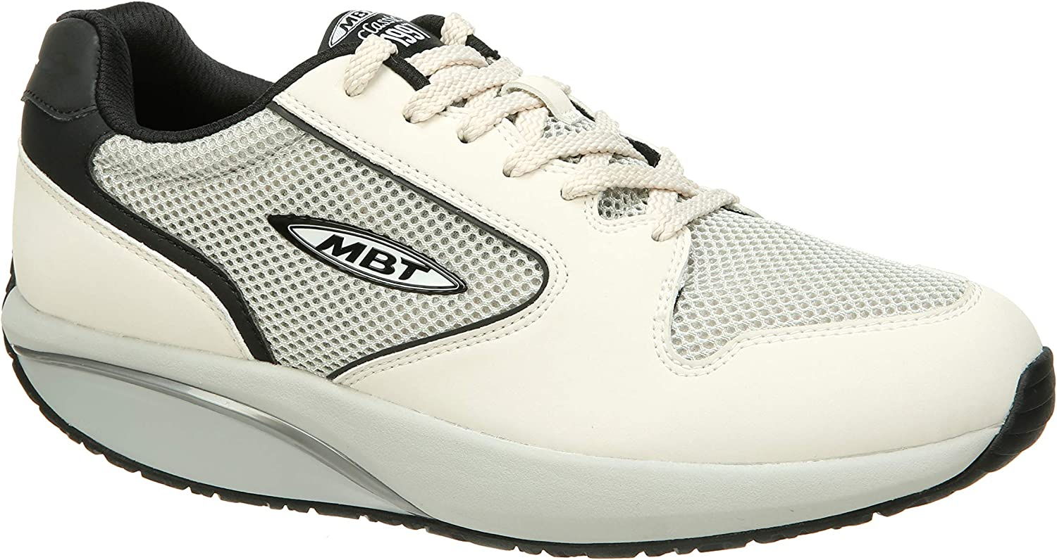 MBT Women's 1997 Limited Edition Ivory Black Synthetic Mesh