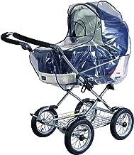 sunnybaby 10020 - Universal Regenverdeck, Regenschutz für EXTRA GROSSE Kinderwagen, Babywanne, Soft-Tragetasche   Kontaktfenster für optimale Luftzirkulation   glasklar   Qualität: MADE in GERMANY