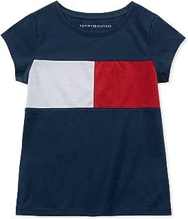 Tommy Hilfiger Girls' Core Short Sleeve Scoop Neck Tee Shirt
