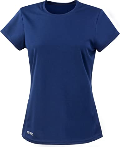 Spiro- Camiseta de deporte de manga corta y secado rápido para chica/mujer