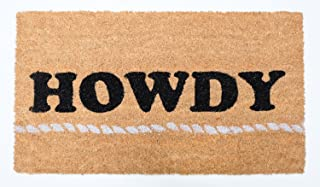 "DII Natural Coir Doormat, Decorative Hello Mat, Howdy, 16x28"""