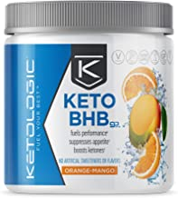 Ketologic BHB Exogenous Ketones Powder with Caffeine   Supports Low Carb, Keto Diet & Boosts Energy, Focus   Keto Pre-Work...