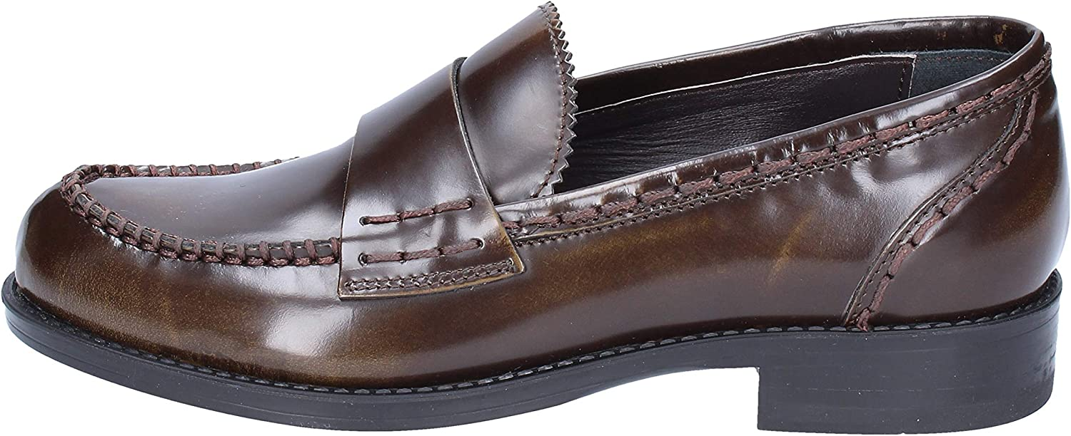 TRIVER FLIGHT Loafers-shoes Womens Leather Brown