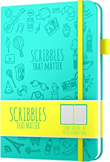 Dotted Journal by Scribbles That Matter - Create Your Perfect Bullet Journal with Ultra Thick 160gsm No Bleed Paper - A5 Hardcover Notebook - Fountain Pens Friendly Paper - Iconic Version - Teal