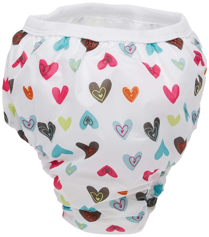 Kushies Baby Waterproof Training Pant (38-44 Pounds), Doodle White Hearts, X-Large